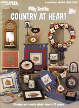 CROSS STITCH MILLY SMITH'S COUNTRY AT HEART 20 DESIGNS COUNTRY ALPHABET - $3.95