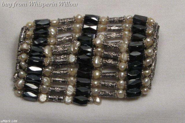 Primary image for Wheat Pearls / Magnetic Hematite Fashion Lariat