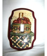Apple Basket Quilt Single Switch Plate Light Cover Single Toggle - $10.99
