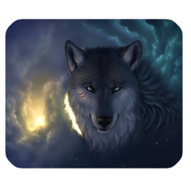 Mouse Pad Wolf Moon Cute Animal In Dark Night Vampire Scary Editions Game - $6.00