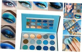 Blue Eyeshadow Palette Makeup,Afflano Pro Matte Eyeshadow Palette-Space ... - $15.65