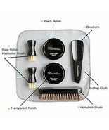 Deluxe Business Leather Shoe Care Kit - 2 Shoe Polish Applicator Brush - $37.81
