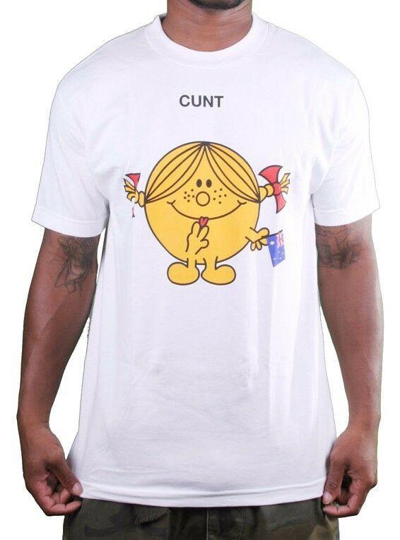 In4mation Británico C ^ NT Lamiendo Lengua Between Dedos Hombre Blanco Camiseta