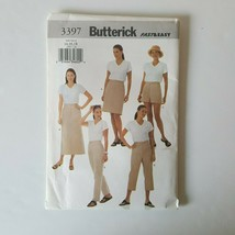 Butterick 3397 Sewing Pattern Fast & Easy Misses Skirt Shorts Pants 14-18 - $9.89