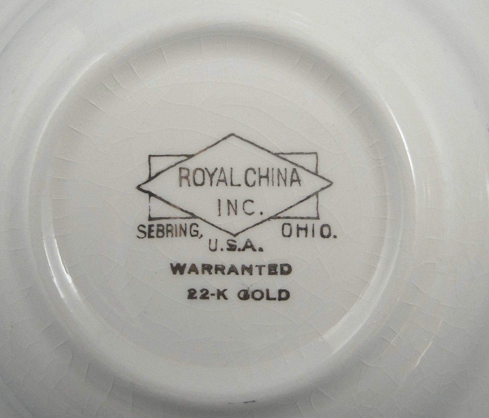 Vintage Royal China RYL44 22K Gold Flowers and 50 similar items