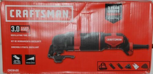 Craftsman CMEW400 3.0 AMP Oscillating Tool Kit Corded Red Black New in Box