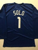 New HOPE SOLO United States Blue Custom Stitched World Cup Soccer Jersey... - $49.99