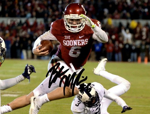 Primary image for BAKER MAYFIELD SIGNED PHOTO 8X10 RP AUTOGRAPHED OKLAHOMA SOONERS FOOTBALL