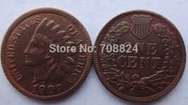 1907 ONE CENT - INDIAN HEAD CENTS - $7.00