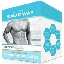 Hair Removal Waxing Kit Men + Women, All Natural | BodyHonee 10 Oz