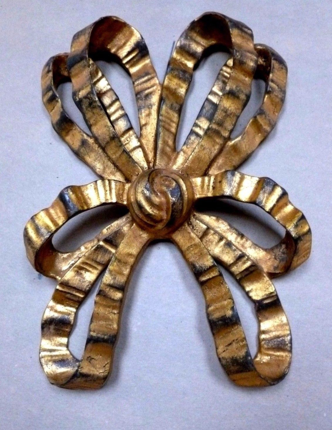 Gilt Bow Sculptural Wall Hanging Mid Century Composition Italian C.1950's1960's