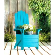 Blue Adirondack Chair Planter - $43.41 CAD