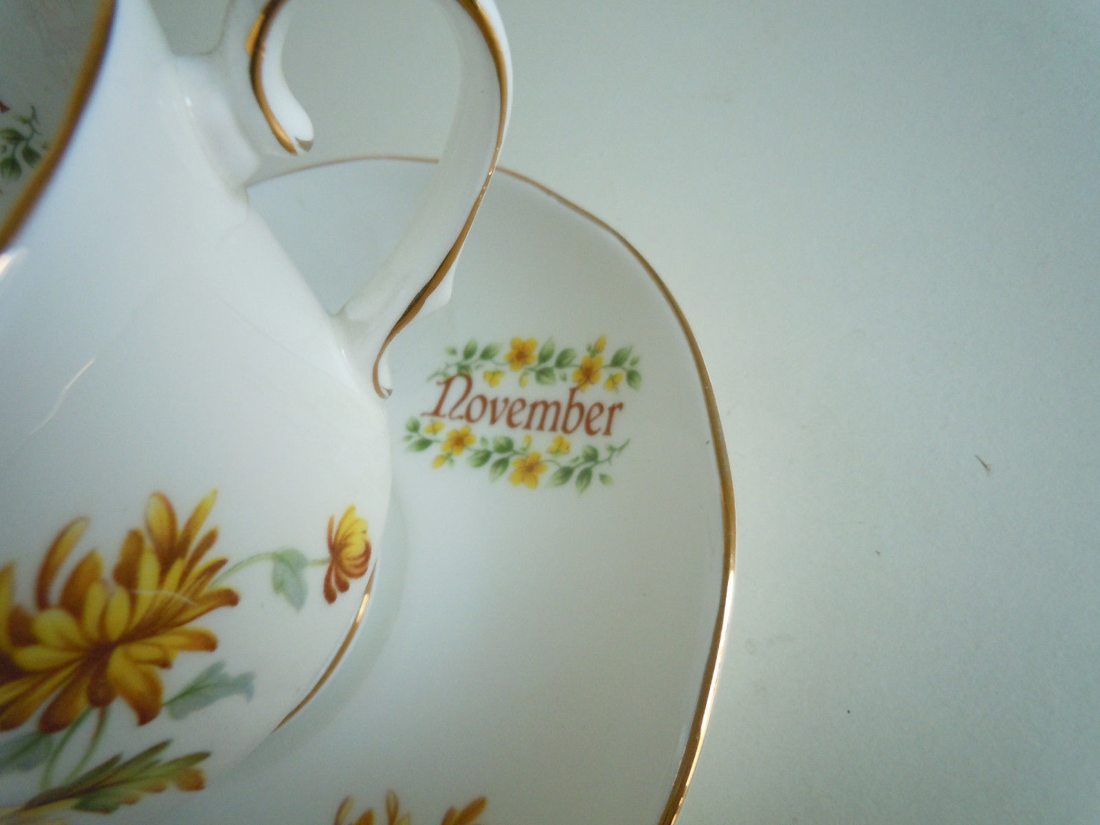 Duchess Flower of The Month November Cup and Saucer Set image 2