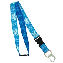 Bud Light Dilly Dilly Lanyard ID Holder Key Chain Blue - $13.98