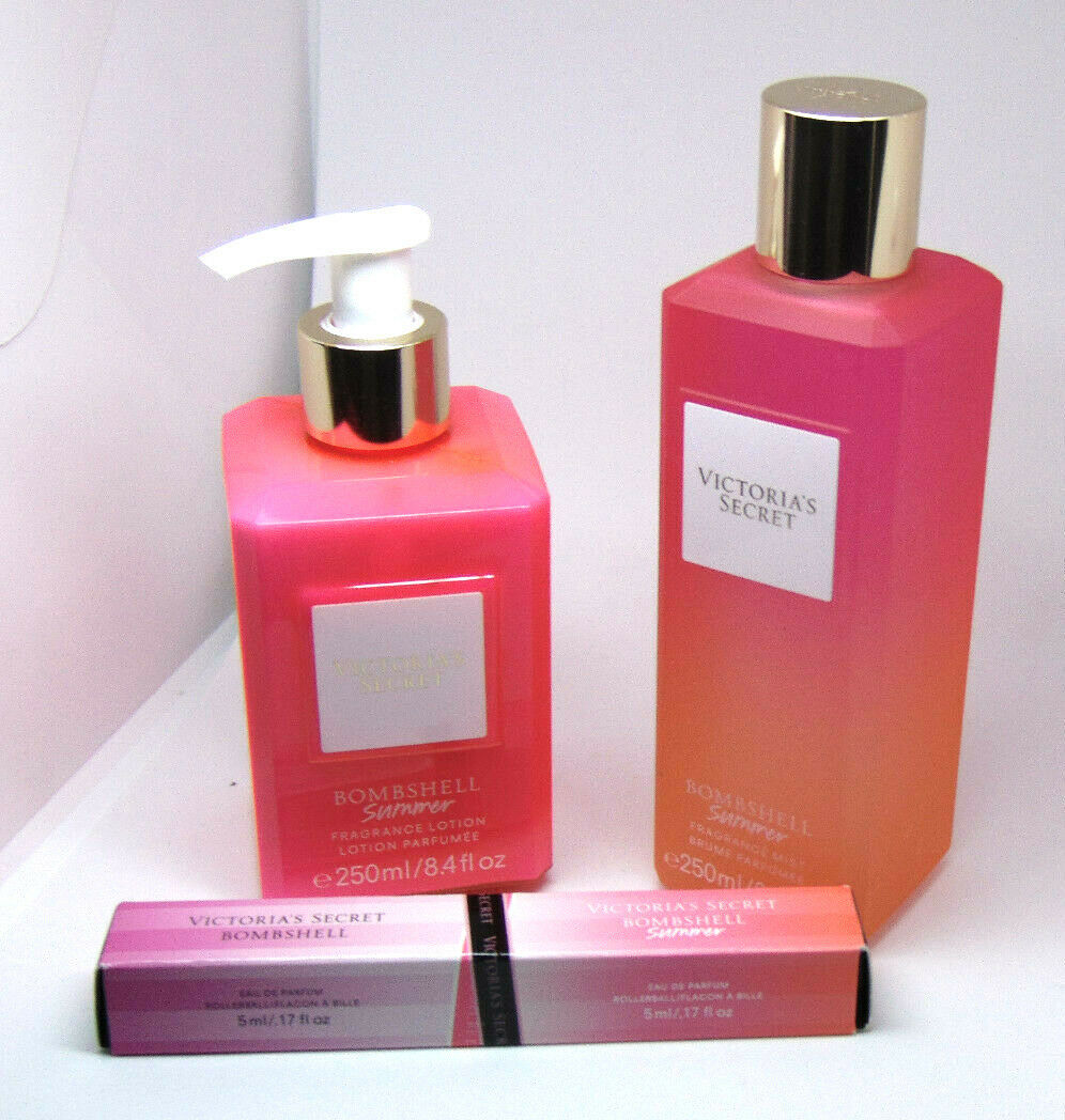Primary image for VICTORIA'S SECRET BOMBSHELL SUMMER Fragrance Mist & Body Lotion & Rollerball