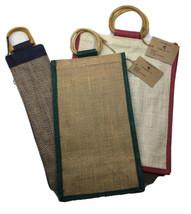 Bottle Gift Bag Jute Christmas Celebration Wine Spirit Whisky Carry Bags... - $19.26