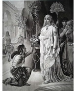 QUEEN CLEOPATRA Receives Message from Marc Anthony - 1888 Fine Antique P... - $21.60