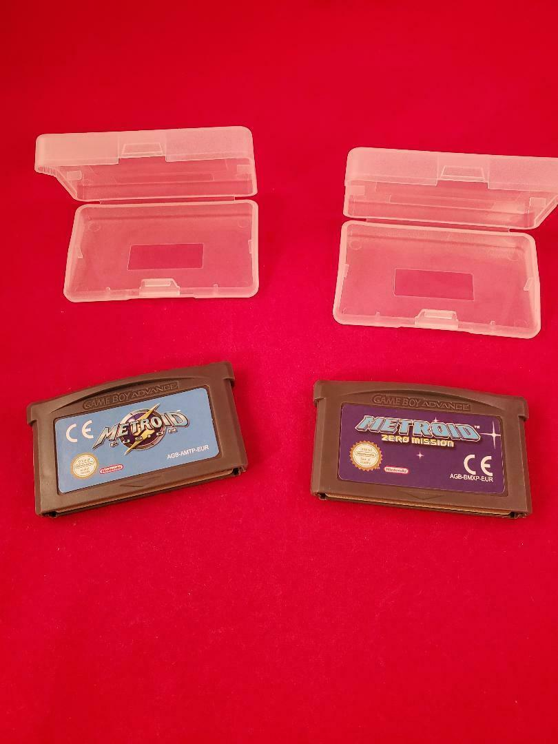 GBA Metroid Zero Mission and Fusion Game Boy Advance Video Game