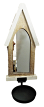 Farmhouse-Style Wood Mirrored Wall Sconce - Set of 2