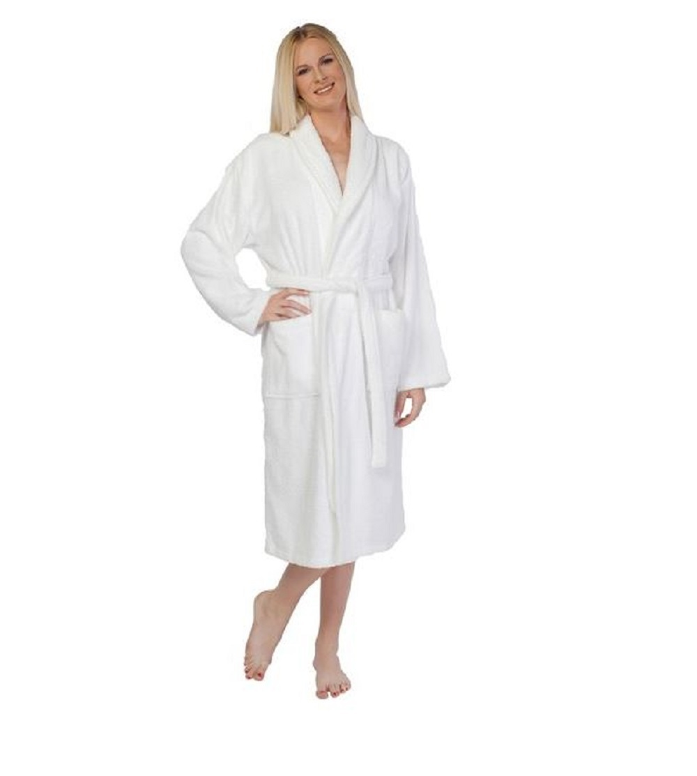 Turkish Cotton Robe Bathrobe Terry Cloth Hotel Spa Bath Medium Men Womens Shower