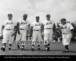 MLB 1960's New York Mets Casey Stengel Gil Hodges Don Zimmer 8 X 10 Photo Pic - $6.99