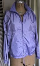 Vintage Womens LL Bean Lavender Light Purple Windbreaker Hooded Jacket Z... - $43.48
