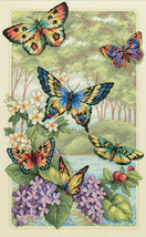 """Dimensions Gold Collection Counted Cross Stitch Kit 10""""X16""""-Butterfly Forest (14 - $36.93"""