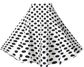 BI.TENCON Women's 1950s Vintage High Waisted White and Black Polka Dot F... - $22.52