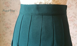 DARK GREEN Pleated Skirt Women Girls Campus Style Pleated Mini Skirt - Plus Size image 7