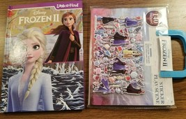 FROZEN II - Look and Find Book AND Sticker Play Scene (2-ITEMS), NEW - $15.88