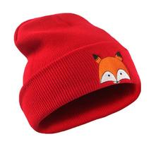 Embroidery Pattern Unisex Warm Hat Knitted Cap Hats Warm Cap Soft Cap Wo... - $9.51