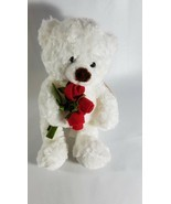 "Hallmark Li'l Lovebud White Bear Plush w/ Rose 11"" Stuffed Animal - £10.72 GBP"
