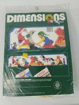 1984 Dimensions PlasticPoint Santas List Stocking Holder 27in x 5in 9049 - $23.38