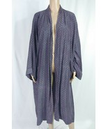 Christian Dior Monsieur Silk Kimono Robe Men's Blue Argyle Smoking Jacke... - $14.03