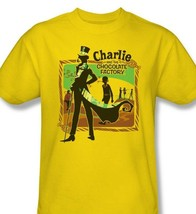 Charlie and Chocolate Factory T-shirt 100% cotton movie graphic gold tee WBM126 image 1