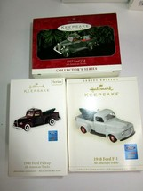 3 NEW Ford Pickup Truck 1937 1940 1948 Hallmark Christmas Ornaments All ... - £29.09 GBP