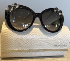 AUTH. NWT JIMMY CHOO Sunglasses MEGAN/S 1VDIC 53 20 140 Swarovski Crysta... - $329.00