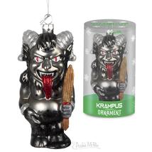 KRAMPUS CHRISTMAS ORNAMENT Archie McPhee Blown Glass Demon Goat Devil - $16.95