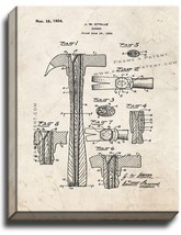 Hammer Patent Print Old Look on Canvas - $39.95+