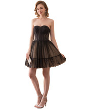 Women Sweetheart Short Lace Black Prom Dresses Tulle 2018 Lace Homecomin... - $88.99