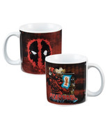 Marvel Comics Deadpool Comic Image and Eyes Logo 20 oz Ceramic Coffee Mug UNUSED - $9.72