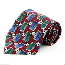 Soccer Jersey Game Men's Silk Neck Tie Ball Player World Cup Football Ne... - $15.79