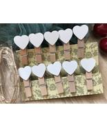 white heart Photo Clip,clothespin,special gift wedding party favor Decor... - $3.90+