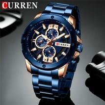 CURREN Men Watches Top Luxury Brand Quartz Watch Stainless Steel Business - $48.86+