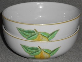 Set (2) Pillivuyt DECOR LEMON PATTERN Coupe Soup/Cereal Bowls MADE IN FR... - $15.83
