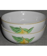 Set (2) Pillivuyt DECOR LEMON PATTERN Coupe Soup/Cereal Bowls MADE IN FR... - $15.83