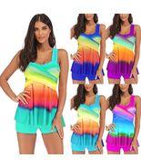 Plus Size Womens Swimwear Bikini Set Tankini Swimsuit Bathing Suit Beach... - $33.23+