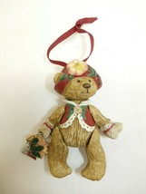 "Hallmark Keepsake 2003 ""Gift Bearers"" Porcelain Teddy Bear Movable Ornament - $11.87"