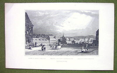 Primary image for GERMANY Baths Langen-Schwalbach - 1840s Antique Print Engraving