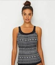 Coco Reef BLACK DOT Pacific Stripe Underwire Tankini Top, Size US 40E - $42.57